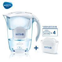 碧然德(BRITA) 过滤净水器 家用滤水壶 净水壶 尊享 Elemaris3.5L白色 1壶4芯