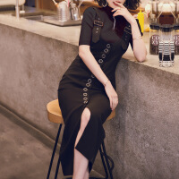2018新款女装套装早秋装2018新款名媛小香风背带套装连衣裙女长裙小黑裙两件套裙