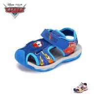 【79元任选2双】迪士尼Disney童鞋儿童沙滩凉鞋2019春夏新款中大童包头网布沙滩鞋男童鞋(3~12岁可选)JS3