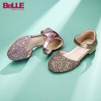 【到手价:179.2元】百丽女童单鞋2020春季新款闪亮钻石公主鞋中童演出单鞋水晶鞋女