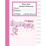 预订 Music Sheet Standard Manu* -108 Pages 12 Staffs - Staves