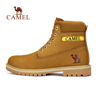 camel骆驼户外休闲男鞋 秋冬磨砂牛皮工装靴防滑耐磨男靴
