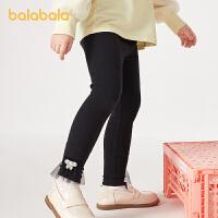 【2件5折价:49.5】巴拉巴拉女童裤子儿童打底裤秋装2021新款童装宝宝长裤小童弹力潮