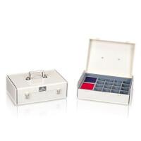 杰丽斯印章箱823带双色印台 印章收纳箱 可组合印章盒 印章收纳盒