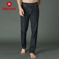 Marmot/土拨鼠男士吸湿保暖透气牛仔长裤