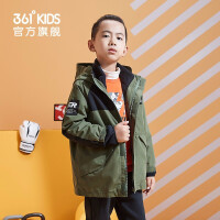 【秒杀叠券预估价:188】361度童装 男童梭织两件套外套2020冬季新款中大童儿童休闲外套