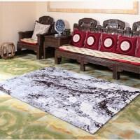 高毛印花客厅沙发卧室简约弯头纱水墨画高档茶几地毯