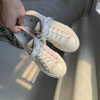 变色紫外线帆布鞋女学生韩版百搭2019秋季秋鞋潮鞋布鞋 白色