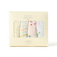 全棉时代婴童纱布面巾4层小黄花