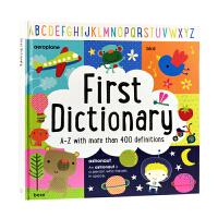 英文原版绘本 First Dictionary A-Z 我的启蒙词典童书 儿童英语早读育儿图画书more than 400 definitions 超过400个解释大开精装