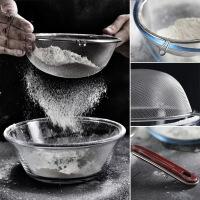 双耳夹家用网漏筛手持不锈钢过滤面粉筛子烘焙厨房工具筛网糖粉筛