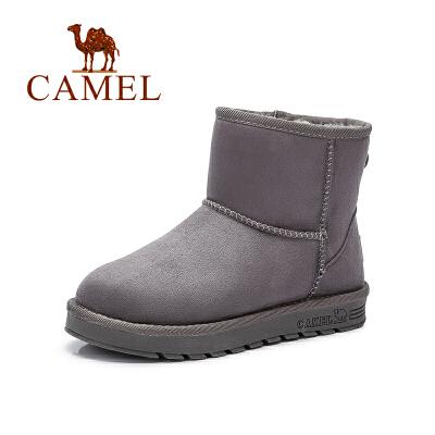 camel骆驼  户外休闲雪地靴女鞋 秋冬新款加绒雪地靴加厚平底短靴短筒学生女靴子