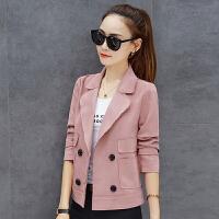 小西装女外套韩版短款修身小香风夹克上衣秋装新款港风矮个子大衣