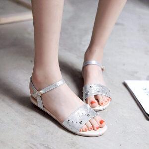 O'SHELL欧希尔新品057-1677韩版平底鞋女士凉鞋