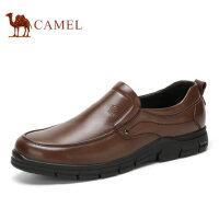 camel骆驼男鞋 休闲皮鞋透气套脚休闲鞋男懒人鞋 新款