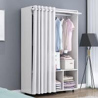老睢坊 简易衣柜木质组装欧式简约现代经济型单人双人衣橱柜子移动柜落地