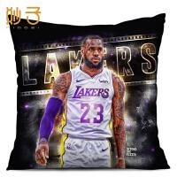 NBA湖人队勒布朗詹姆斯抱枕头篮球明星周边DIY生日礼物靠枕垫定制