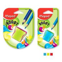 马培德MAPED 欢悦转笔刀单孔/双孔 儿童学习用品卷笔刀考试文具