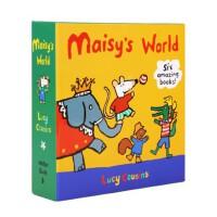 点读版 进口英文原版 小鼠波波Maisy套装6册橙盒机关书 3册纸板翻翻抽拉书+3册平装贴纸书