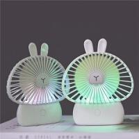 小风扇充电大风力夜灯桌面迷你手持小风扇