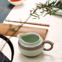 茶道配件侧把分茶器公道杯粗陶茶海陶瓷功夫茶具