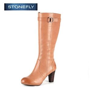 STONEFLY/斯通富来冬季时尚拉链高跟时尚百搭长靴女高筒靴SD44111304