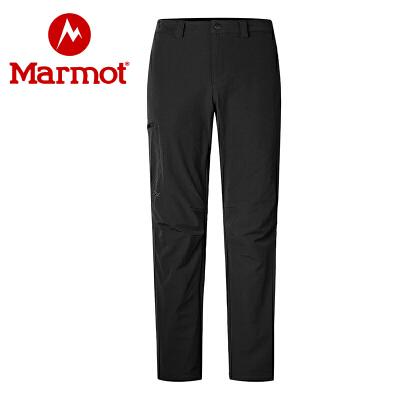 Marmot/土拨鼠新款运动户外防泼水透气弹力男士 M3软壳裤 VIP专享96折
