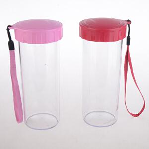特百惠430ML多彩随心杯莹彩杯学生便携水杯茶杯