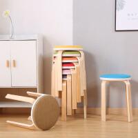 幽咸家居家用餐凳 曲木凳子圆凳 韩式小凳子 圆凳 家用凳子 餐凳 用餐椅子 凳子