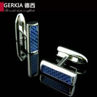 Gerkia珐琅质法式男士衬衫袖慕尼黑商务袖扣 蓝色