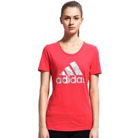 adidas阿迪达斯 羽毛球服训练衫 女子训练系列 短袖T恤