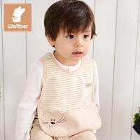 威尔贝鲁 婴儿口水巾 新生儿宝宝口水巾 纯棉儿童围嘴 喂奶巾 围兜