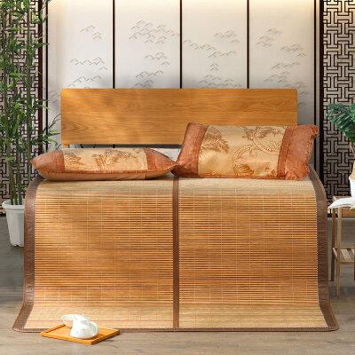 【6.4大牌日 到手价59】百丽丝家纺 水星出品 双面折叠席子竹凉席 清风影碳化竹席0.9米床