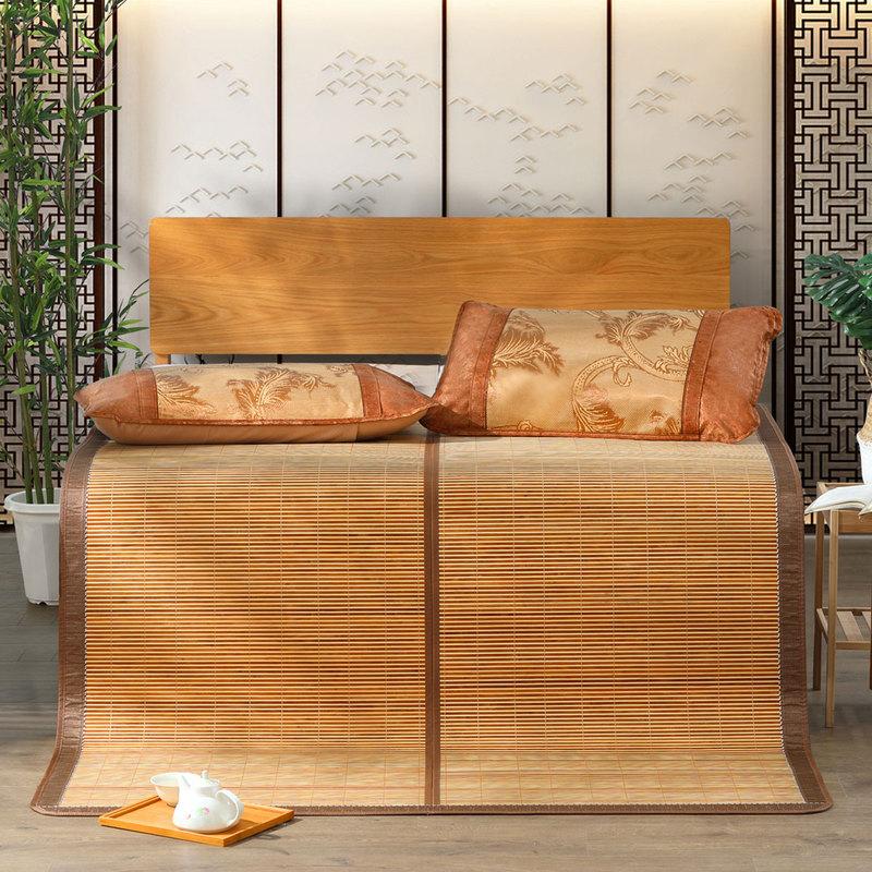 百丽丝家纺 水星出品 双面折叠席子竹凉席 清风影碳化竹席0.9米床