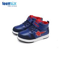 【159元任选2双】天美意teenmix童鞋男童休闲板鞋小童时尚滑板鞋 X95761
