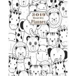 预订 2019 Monthly Planner: Schedule Beautiful Organizer Styli