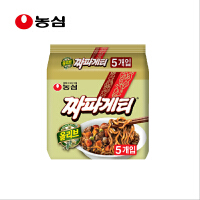 韩国进口食品 农心 炸酱面韩式杂酱面干拌面140g*5连包