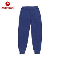 Marmot/土拨鼠户外新款男士针织透气休闲运动长卫裤