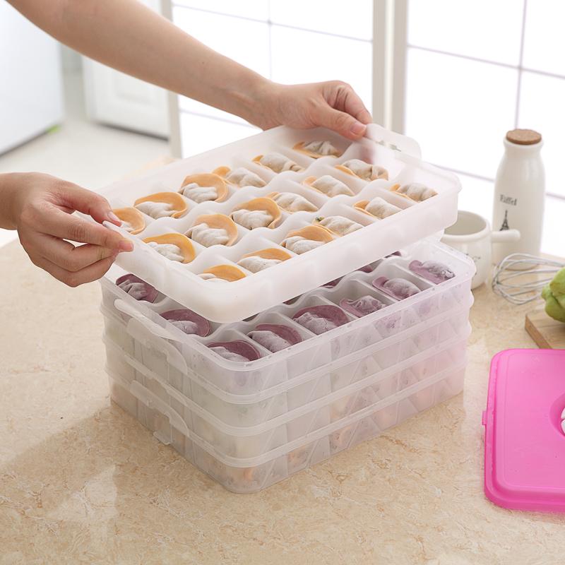 分格饺子托盘微波饺子盘解冻盒 冰箱保鲜收纳盒冻饺子保鲜盒可用礼品卡 全国包邮