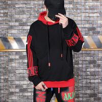 陈赫潮牌原创潮牌hiphop嘻哈风街舞演出男装秋季印花街头个性宽松连帽卫衣u005
