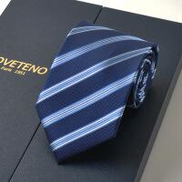 新男士正装领带领带男士 正装商务职业上班9cm深蓝面试礼盒装新款