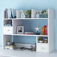 老睢坊 桌上书架简易办公桌面实木色飘窗小收纳架简约学生多层置物架书柜