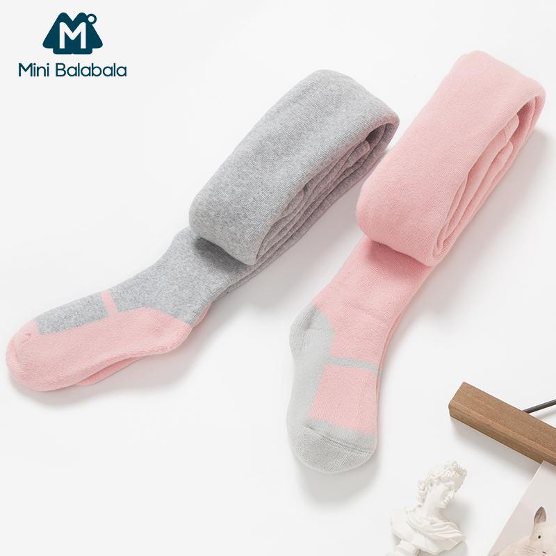 【5折价:49.5】迷你巴拉巴拉女童打底袜2018秋冬新款袜子儿童打底袜连裤袜