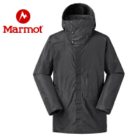 Marmot/土拨鼠秋冬款户外防风保暖P棉男厚重中长款棉服