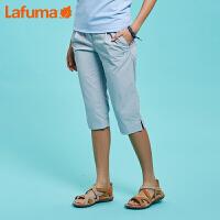 法国LAFUMA乐飞叶女士户外徒步旅行弹力透气宽松七分裤LFPA8BS47