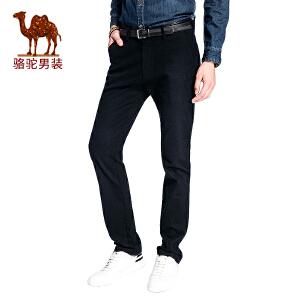 骆驼男装 秋季新款修身男士休商务休闲长裤时尚男长裤子