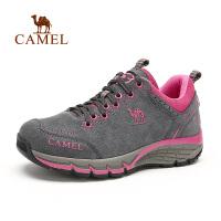 camel骆驼户外徒步鞋  秋季女款耐磨反绒皮徒步鞋