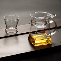 玻璃茶海功夫茶具公杯玻璃公道杯耐热玻璃公杯过滤大号茶漏分茶器