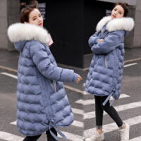孕妇冬装大码棉袄中长款棉衣孕后期韩版宽松冬季外套