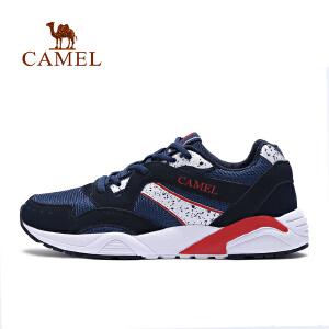 【满259减200元】camel/骆驼运动鞋男反绒牛皮轻便透气舒适减震低帮户外跑步鞋